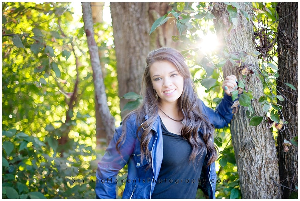 woods, high-school-senior-photography, leather-jacket, perfect-sun
