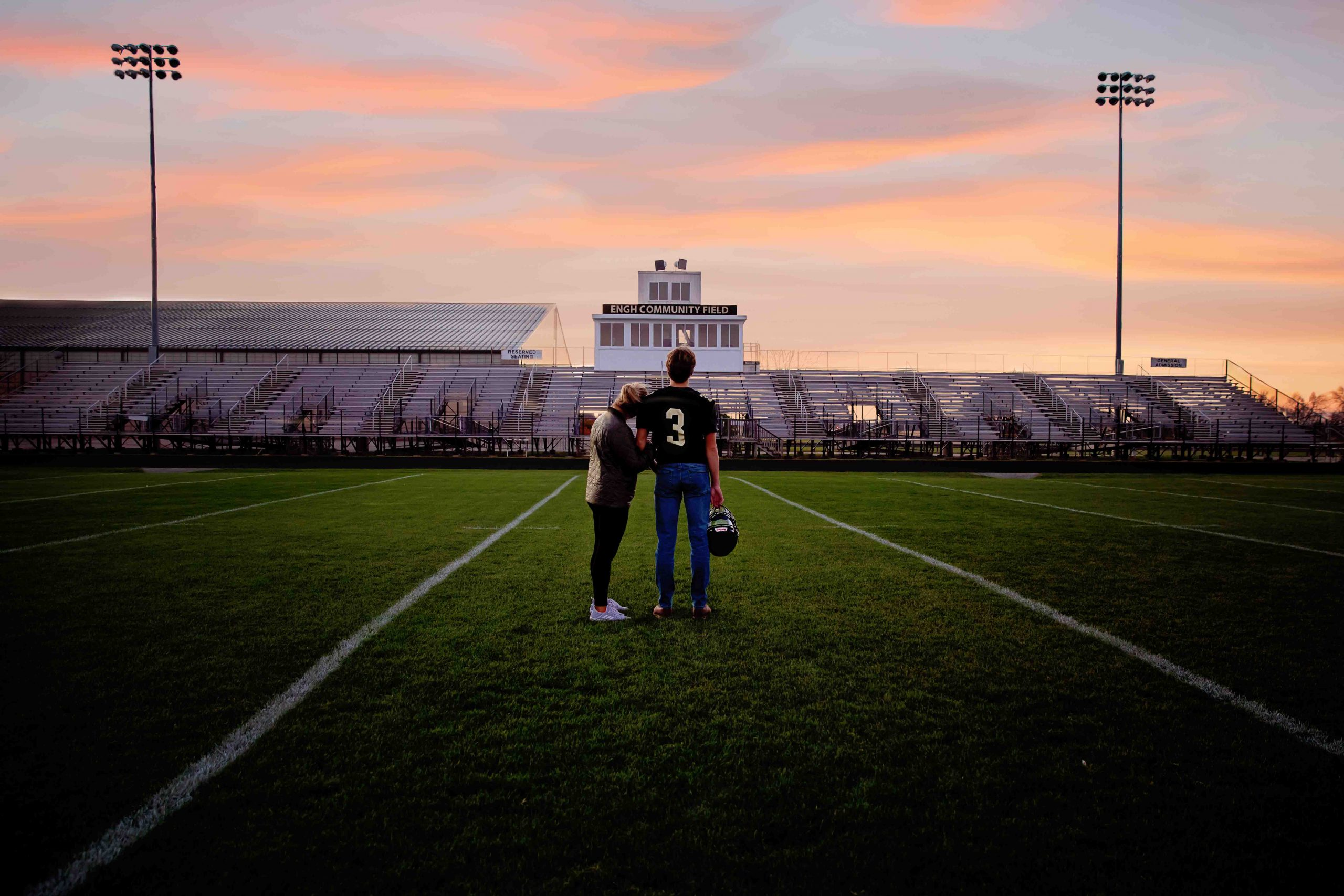 football field, sycamore il photographer, sycamore high school