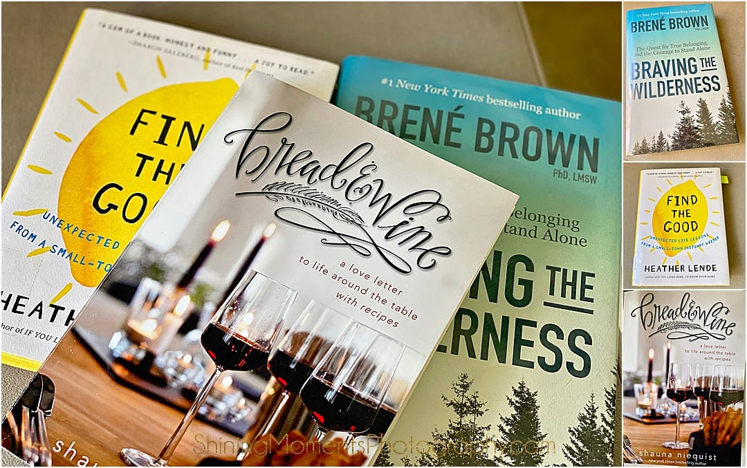 online book club, bread & wine, Braving the wilderness, find the good